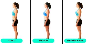 """Ferrari Press Agency Ref 8659 Shapes 1 21/11/2017 See Ferrari text Picture MUST credit : FitRated.com A fascinating new graphic reveals how the ideal female physique can change depending on which country you live in. Designers from 15 countries were challenged by on-line fitness products and services resource FitRated to alter an image of a 28-year-old woman to fit their country's perception of """"fit."""" They were from Argentina, Chile , China, Italy, Mexico, Netherlands, Nigeria, Peru, Philippines, Romania, Serbia, South Africa, Spain, Ukraine and the USA.They were asked them to think about the aspects of a woman's physique that are considered when they think of a fit body and to alter images accordingly.The results appeared to show that people in every country appreciated a small waist and flat stomach.However, the images also show major differences in terms of how slim, athletic or curvy the preferred body type is.It turns out the """"Kardashian body"""" may be more ideal in Peru than the U.S. The South American country was the only country that significantly increased the size of the model's glutes. Most countries only slightly changed her chest size, as well. Mexico, China, Argentina, the Netherlands, and Nigeria gave her breasts more of an augmentation than the rest of the countries. Overall, almost all of our designers chose to alter the model's obliques, slimming her silhouette.In the US, the desired physique appears to be athletic, with added muscle definition photoshopped onto the image. But in China, the figure was made to look slimmer, with a particular focus on a toned stomach.In Mexico, there was more emphasis on wider hips, which the artist explained is considered sexy there. The side-profile images also show countries have different perceptions of what is desirable when it comes to the derriere.Mexico, Peru and the Netherlands and South Africa were the countries that added the most volume and definition to the rear.The Fitrated report said: """" Artists from all"""