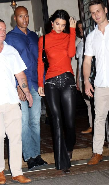October 9 2018, New York City Model Kendall Jenner wears a sheer red top as she leaves a downtown hotel on October 9 2018 in New York City By Line: Philip Vaughan/ACE Pictures ACE Pictures Inc Tel: 6467670430 Email: info@acepixs.com, Image: 390461444, License: Rights-managed, Restrictions: , Model Release: no, Credit line: Profimedia, Acepixs