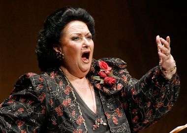 Spanish soprano Montserrat Caballe performs during a concert in Santander, northern Spain December 9, 2006. REUTERS/Victor Fraile (SPAIN) - GM1DUCXJHMAA