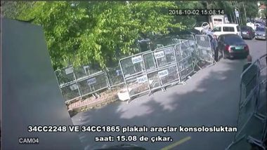 October 10, 2018 - °Stanbul, Türkiye - A still image from a security cam claims to show a car arriving at Saudi Arabia's consulate in Istanbul. It is claimed that this car were carrying Saudi intelligence officers who killed Jamal Khashoggi., Image: 390591211, License: Rights-managed, Restrictions: * Turkey Rights Out *, Model Release: no, Credit line: Profimedia, Zuma Press - News