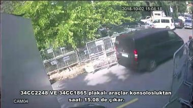 A still image from a security cam claims to show a van arriving at Saudi Arabiaâs consulate in Istanbul. It is claimed that this van were carrying Saudi intelligence officers who killed Jamal Khashoggi., Image: 390665423, License: Rights-managed, Restrictions: , Model Release: no, Credit line: Profimedia, Abaca