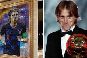 Mauricio Benitez napravio je portret Luke Modrića od Swarovski kristala