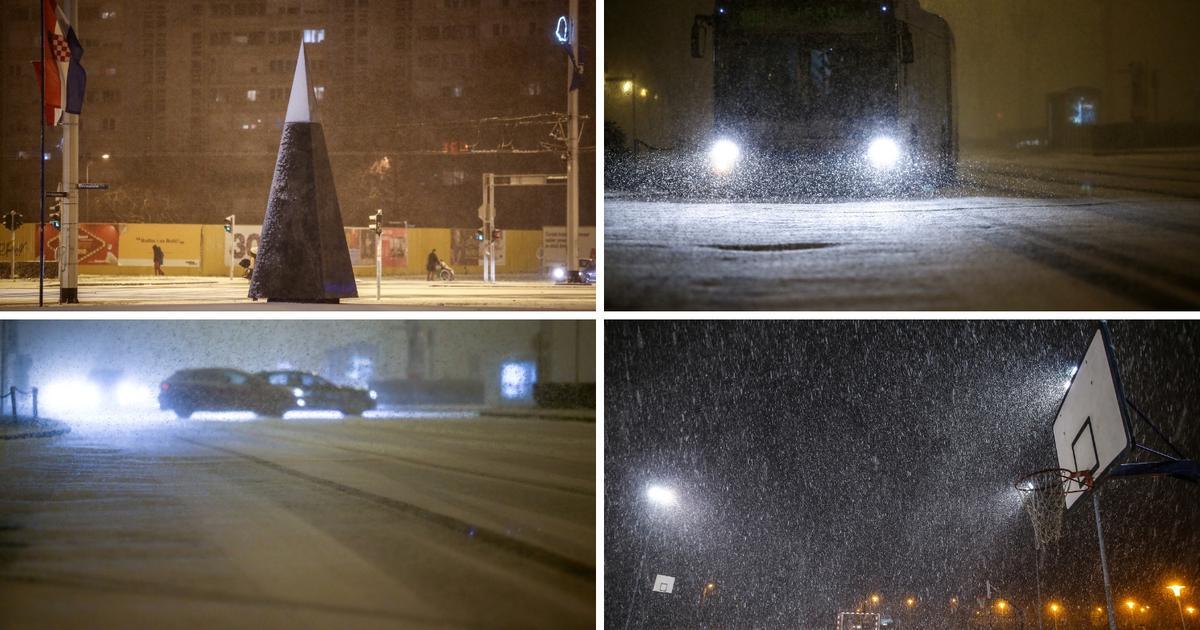 Pada snijeg u Zagrebu i okolici. HAK upozorava: Vozite pažljivo