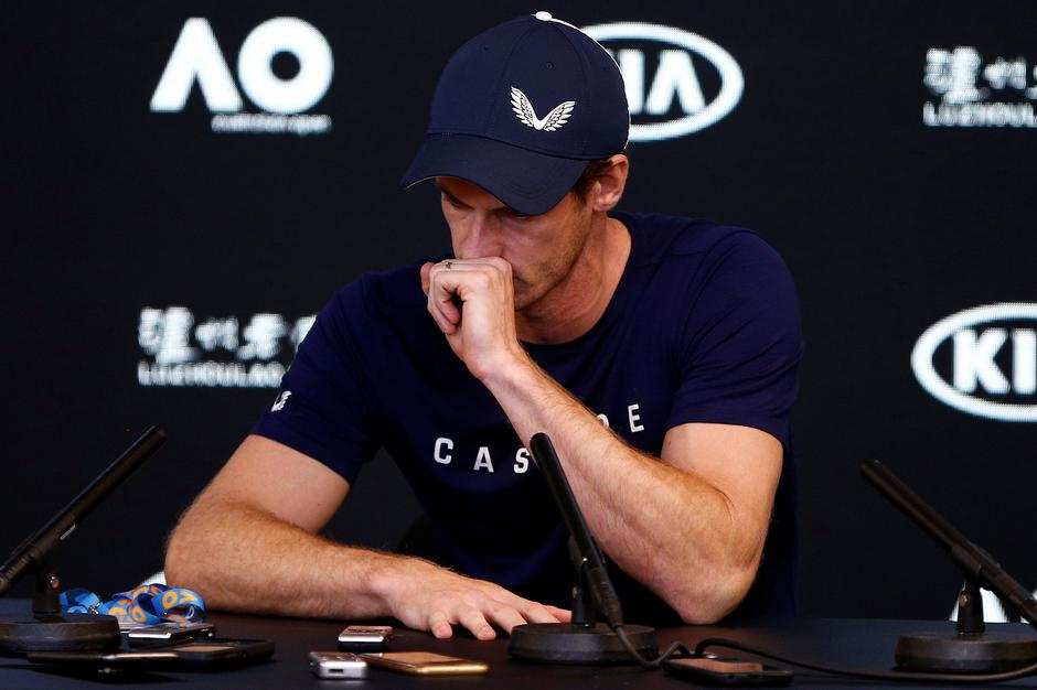Andy Murray of England speaks to the media during a press conference at the Australian Open in Melbourne | Autor: STRINGER