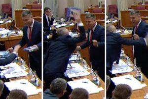 Krstičević 'pukao': Zgrabio je maketu aviona i bacio na pod!