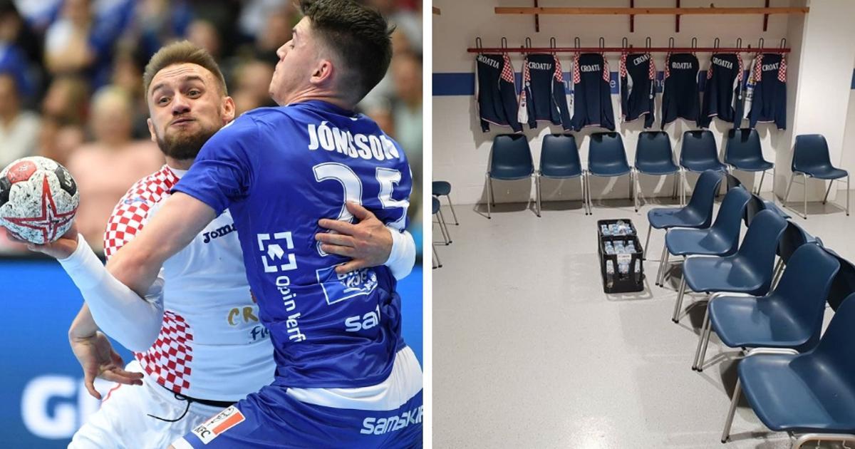 Hrvatska rukometna reprezentacija počistila svlačionicu nakon utakmice s Islandom