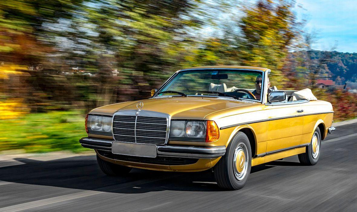 FOTO: TAKSI LEGENDA U TOPLESU - upoznajte jedinstveni domaći Mercedes W123 230 CE Cabrio!