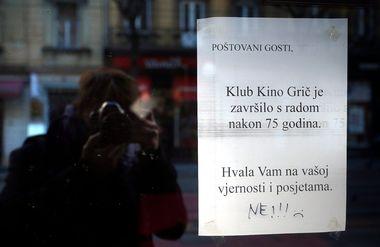 Zagreb,120119.Jurisiceva ulica.Kino Gric nakon 75 godina prestaje s radom.Foto: Damjan Tadic / CROPIX