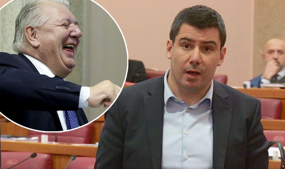NOVA SNIMKA IZ SABORA Nakon gužve nastale zbog sukoba Grmoje i Plenkovića, u sve se uključio HDZ-ovac Đakić, mostovcu je više puta vikao: 'Odje*i!'