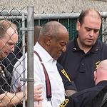 Bill Cosby is being taking in shackles at Montgomery County Courthouse in Norristown, PA