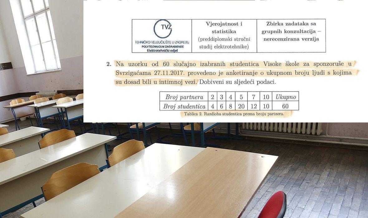 OMILJENI PROFESOR IZNENADIO STUDENTE Dao im zadatak o broju 'intimnih veza studentica Visoke škole za sponzoruše'