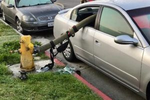 Vatrogasci provukli crijevo za vodu kroz prozor automobila