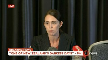 New Zealand's Prime Minister Jacinda Ardern speaks on live television following fatal shootings at two mosques in central Christchurch, New Zealand March 15, 2019, in this still image taken from video. TVNZ/via REUTERS TV ATTENTION EDITORS - THIS IMAGE WAS PROVIDED BY A THIRD PARTY. NO RESALES. NO ARCHIVES. NEW ZEALAND OUT. AUSTRALIA OUT. Digital: NO USE NEW ZEALAND INTERNET SITES / ANY INTERNET SITE OF ANY NEW ZEALAND OR AUSTRALIA BASED MEDIA ORGANISATIONS OR MOBILE PLATFORMS . For Reuters customers only. TPX IMAGES OF THE DAY