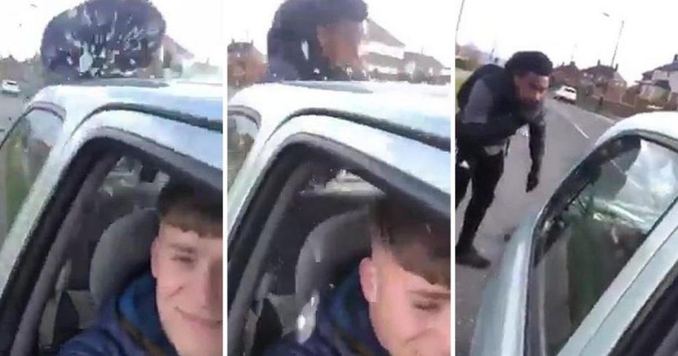 Vozač sve snimao i smijao se: Naglo zakočio ispred biciklista