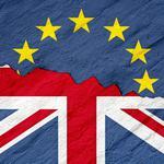 Brexit - Symbolic picture of Britain leaving the EU