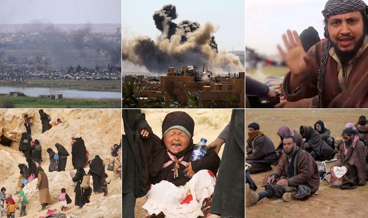 FOTO: DRAMATIČNE SCENE U SRAVNJENOJ POSLJEDNJOJ ENKLAVI ISLAMSKE DRŽAVE Teroristi na sve moguće načine pokušavaju uvjeriti vojnike da su civili