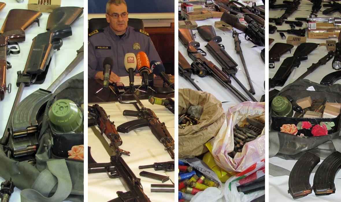 POGLEDAJTE KAKAV JE ARSENAL POLICIJA ZAPLIJENILA U SISKU, PETRINJI I SUNJI: 9 uhićenih nabavljalo, uređivalo i prerađivalo oružje za ilegalnu prodaju