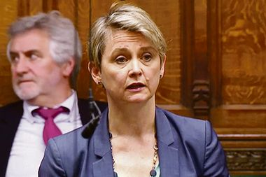 Britain's Labour MP Yvette Cooper speaks in the Parliament in London, Britain April 3, 2019, in this screen grab taken from video. Reuters TV via REUTERS - RC1CB372A9B0