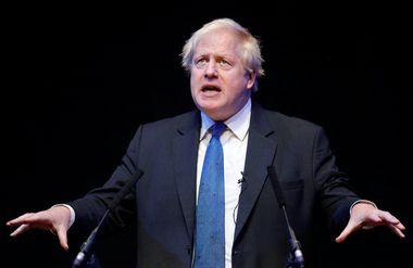 Boris Johnson speaks at the Conservative Home fringe meeting at the Conservative Party Conference in Birmingham, Britain, October 2, 2018. REUTERS/Darren Staples