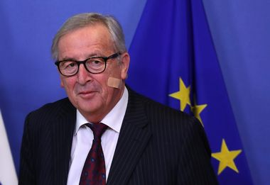 European Commission President Jean-Claude Juncker is seen during the visit of Slovenian President Borut Pahor at the EC headquarters in Brussels, Belgium February 20, 2019. REUTERS/Yves Herman