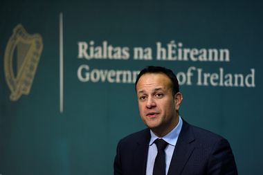 Taoiseach (Prime Minister) of Ireland Leo Varadkar speaks at a news conference announcing that the Irish Government will hold a referendum on liberalising abortion laws at the end of May, in Dublin, Ireland, January 29, 2018. REUTERS/Clodagh Kilcoyne