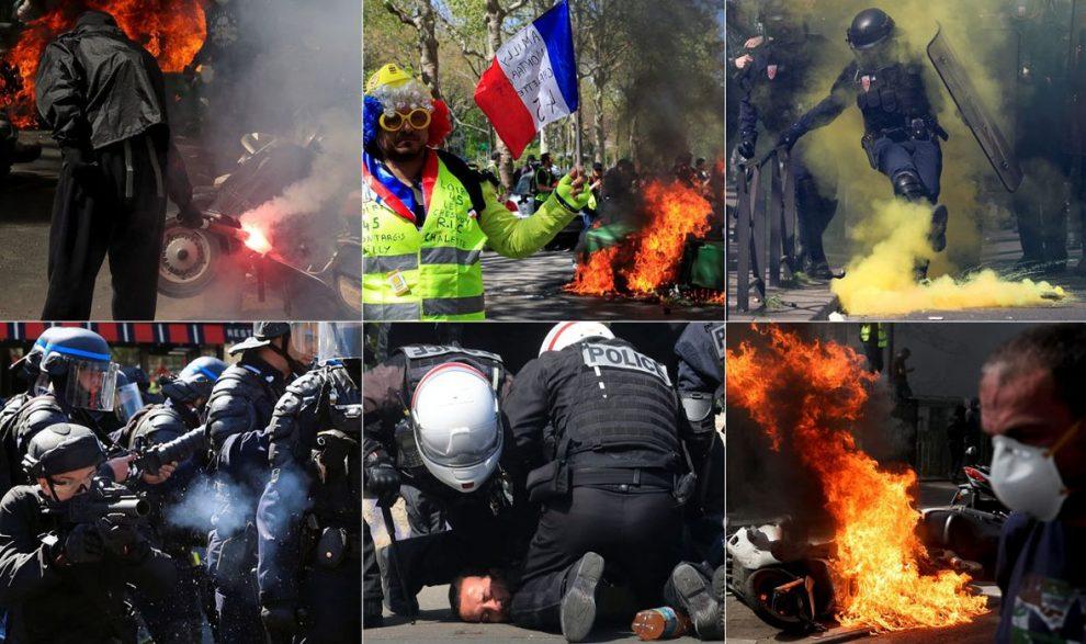 VIDEO, FOTO: POTPUNI KAOS NA ULICAMA PARIZA Prosvjed 'žutih prsluka' ponovno se pretvorio u zastrašujući festival nasilja