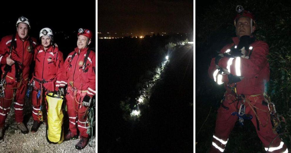 HGSS-ovci spasili psića kojeg je netko bacio u kanjon Cetine