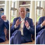 """Former U.S. Vice President Joe Biden appears in a video in which he pledges to be """"more mindful about respecting personal space in the future"""