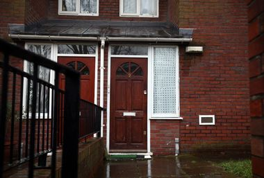 LONDON, ENGLAND - FEBRUARY 26: The home where Islamic State militant Mohammed Emwazi, who has come to be known as Jihadi John, is believed to have once lived is pictured on February 26, 2015 in London, England. Emwazi, a Kuwaiti-born British man in his 20s, has been pictured in the videos of the beheadings of a number of Western hostages. (Photo by Carl Court/Getty Images)