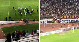 Torcida utrčala na travnjak nakon poraza Hajduka i ispadanja iz kvalifikacija za Europu