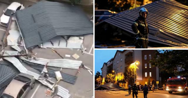 Dramatične snimke: Stanari u šoku, otpao im krov sa zgrade