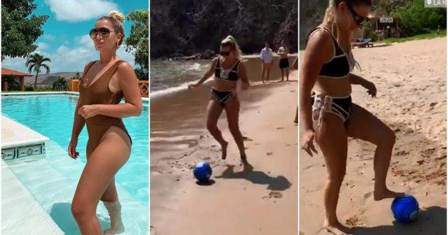 Hajro naučio Leylu nogometne trikove pa se ona hvali na plaži