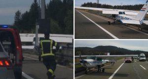 Drama kod Ravne Gore: Manji zrakoplov sletio na autocestu!