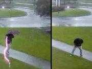 Ovo je bilo za dlaku: Izbjegao udar groma za vrijeme šetnje