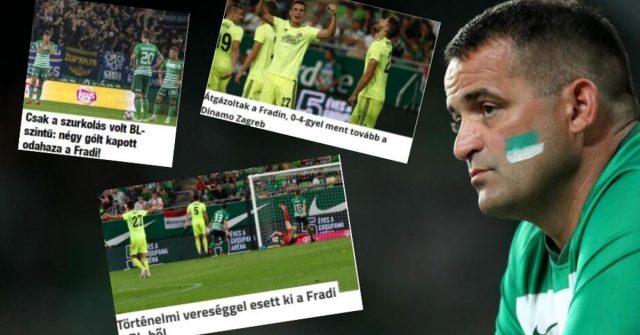 Mađarski mediji: Ferencvarošev najteži poraz ikad na Groupami