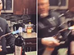 Otvarao ju plamenikom pa mu je boca vina eksplodirala u lice