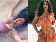 Salma Hayek pozirala u badiću na plaži: 'Servirala' je poprsje