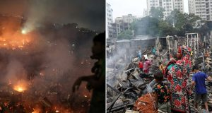 FOTO: STRAVIČAN POŽAR U DHAKI PROGUTAO 15.000 DOMOVA Čak 50.000 ljudi ostalo je bez krova nad glavom, požar se brzo širio zbog plastičnih krovova