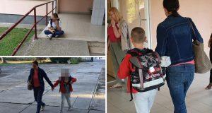 Prvašić koji je plakao na prvi dan škole krenuo na nastavu