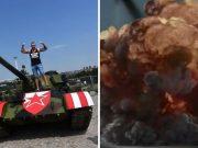 Navijači Rada 'uništili' tenk Crvene Zvezde