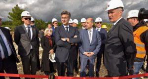 Plenković je posjetio gradilište prve HEP-ove vjetroelektrane