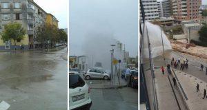 I Zadar dobio 'fontanu': Pukla cijev, poplavile ulice, liftovi...