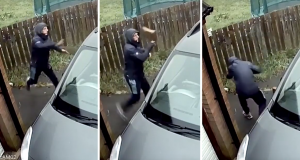 Zveknula ga u facu: Bacio ciglu u prozor auta pa mu se odbila
