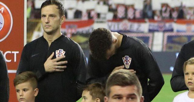 Ivan Perišić na rubu suza prilikom intoniranja himne, Hrvatska - Mađarska