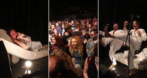 FOTO: LET 3 PRIREDIO PRVI EKOLOŠKI PERFORMANS U TVORNICI Dovukli su madrace na pozornicu, spavali i čitali erotsku literaturu