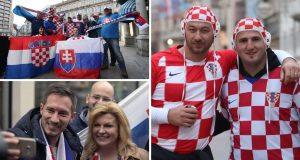 Hrvatski navijači napunili središte Rijeke, druže se sa Slovacima, stigla i predsjednica Kolinda Grabar Kitarović