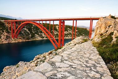 Red Maslenica Bridge, Croatia