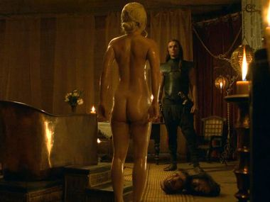 21-5-2013 Emilia Clarke gets naked in the latest episode of the TV show