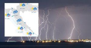 Jaka kiša zahvatila Dalmaciju: U nedjelju više kiše i jak vjetar