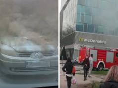 U Avenue Mallu je gorio auto: 'Skoro sam pala u nesvijest!'